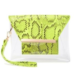 NWT! Urban Expressions Reese Neon Vegan Clutch